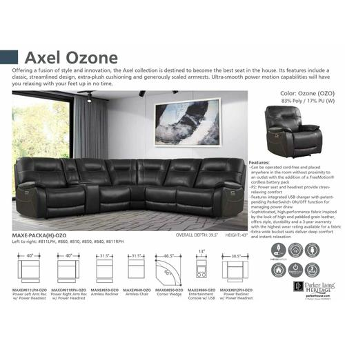 Parker House - AXEL - OZONE Power Right Arm Facing Recliner