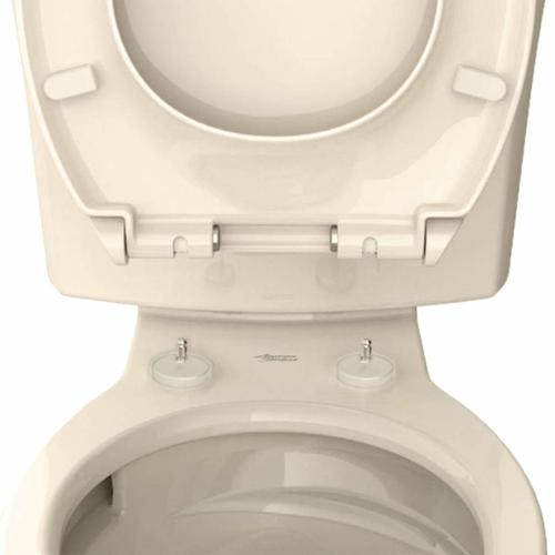Contemporary Slow-Close Round-Front Toilet Seat with TriVantage  American Standard - Bone