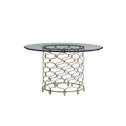 Bollinger Round Dining Table With Glass Top 72 Inch