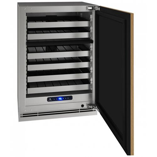 "Hwd524 24"" Dual-zone Wine Refrigerator With Integrated Solid Finish and Field Reversible Door Swing (115 V/60 Hz Volts /60 Hz Hz)"