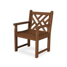 Teak Chippendale Garden Arm Chair