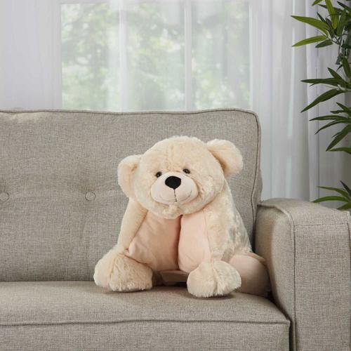 """Plushlines N0582 Ivory 1'6"""" X 1'10"""" Plush Animal"""