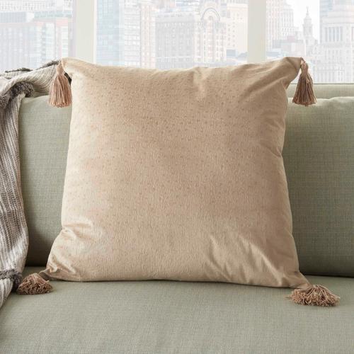 "Life Styles Et093 Beige 20"" X 20"" Throw Pillow"
