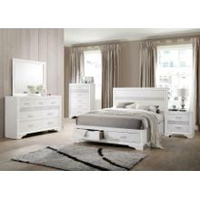 Miranda Contemporary White California King Five-piece Set