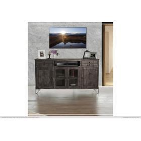 """See Details - 70"""" TV Stand w/2 Drawer, 2 Door & 2 Glass Door"""