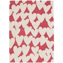 Sweet Treats-Hearts Pink Cream - Rectangle - 7' x 9'