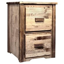 Homestead Collection 2 Drawer File Cabinet, Stain and Lacquer Finish