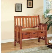 Traditional Warm Brown Bench Product Image