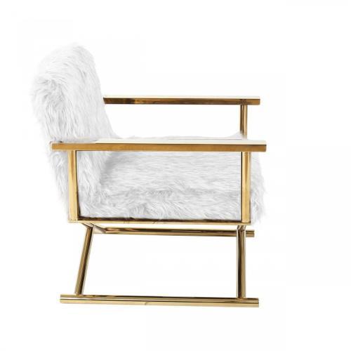 VIG Furniture - Modrest Haxtun - Modern CReam Sherpa Accent Chair