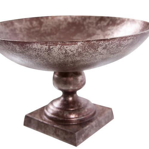 Howard Elliott - Aluminum Footed Bowl in Antiqued Bronze, Small
