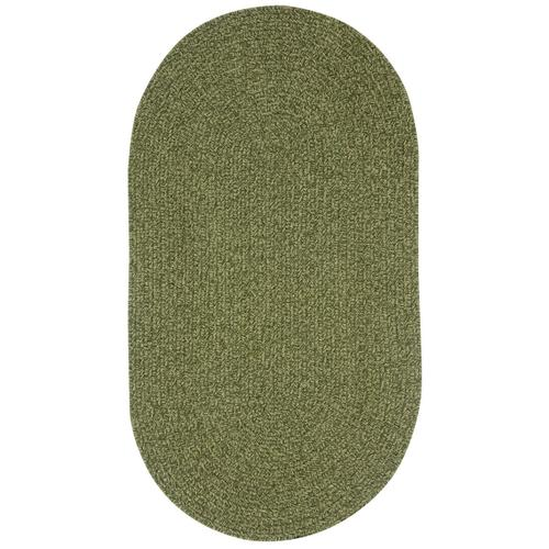 Heathered Sage Green Braided Rugs