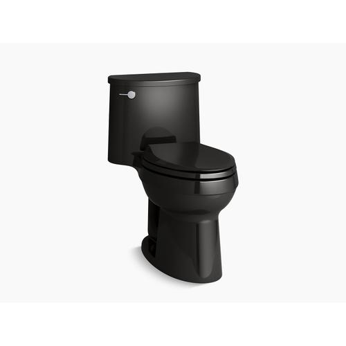 Black Black One-piece Elongated 1.28 Gpf Chair-height Toilet With Quiet-close Seat