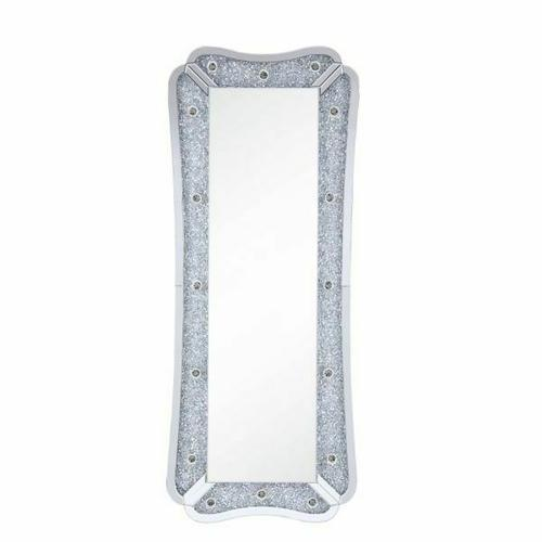 Acme Furniture Inc - Noralie Accent Floor Mirror by Acme 97755 includes Vanity Light Bulbs