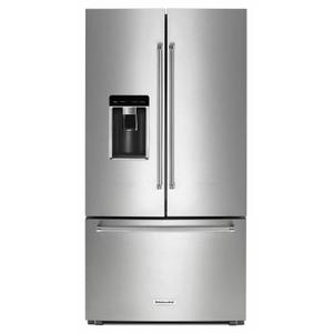 """KitchenAid23.8 cu. ft. 36"""" Counter-Depth French Door Refrigerator - Stainless Steel"""