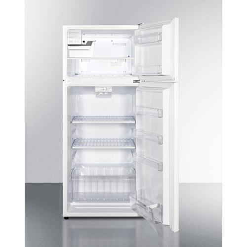 "Summit - 24"" Wide Top Mount Refrigerator-freezer With Icemaker"
