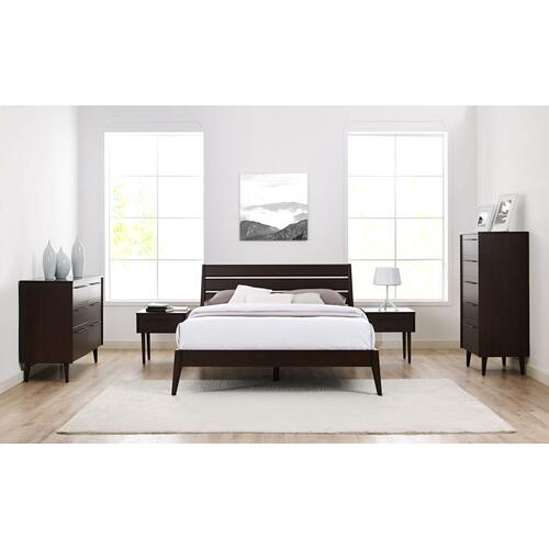 Sienna Queen Platform Bed, Mocha