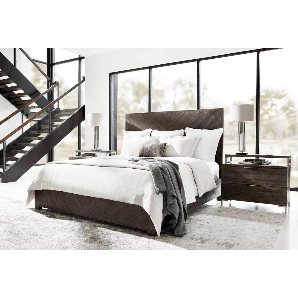 California King-Sized Fuller Panel Bed in Sable Brown