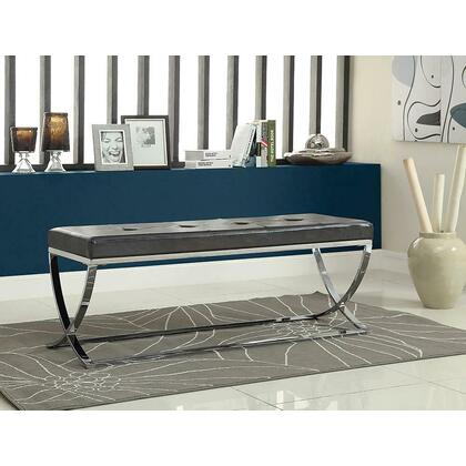 See Details - Contemporary Chrome Bench