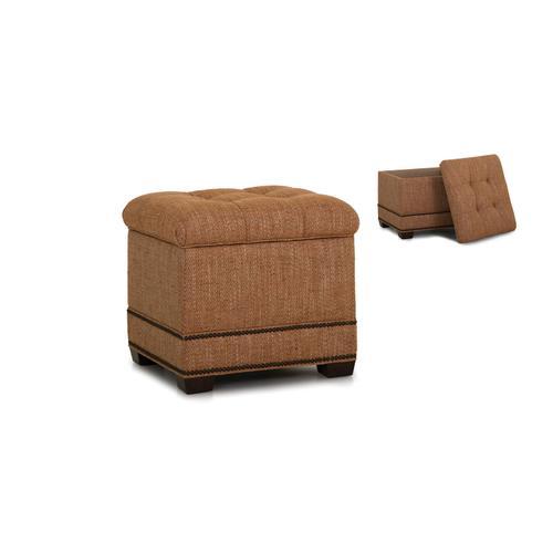 Smith Brothers Furniture - Storage Ottoman w/ Tapered Leg