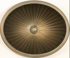 Bronze Oval Fluted Product Image