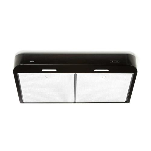 Antero 36-Inch 250 CFM Black Range Hood with LED light