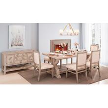 Fairview Ash Backless Dining Bench