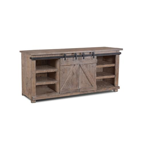 Horizon Home Furniture - Jackson 70'' Barn Door Console Gray