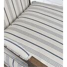 Crocker Accent Chair Blue Stripe Product Image