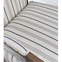 Crocker Accent Chair Blue Stripe