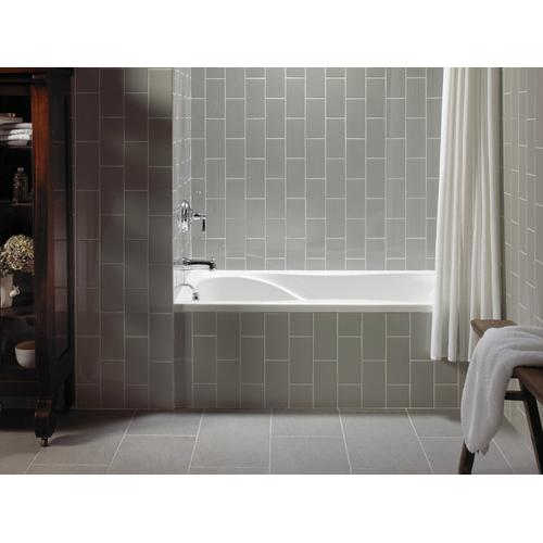"White 60"" X 32"" Alcove Bath With Integral Flange and Left-hand Drain"