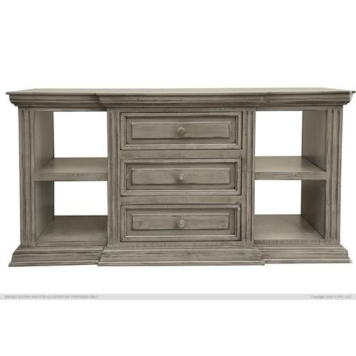 Gallery - 3 Drawer, 4 shelves, Sofa Table