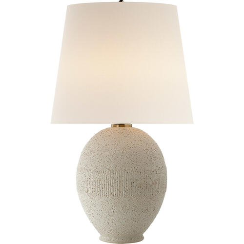 AERIN Toulon 27 inch 75 watt Volcanic Ivory Table Lamp Portable Light