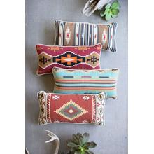 See Details - set of four printed southwest lumbar pillows