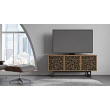 View Product - Elements 8777 Media Media Cabinet in Ricochet Doors Natural Walnut
