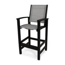 View Product - Coastal Bar Chair in Black / Metallic Sling