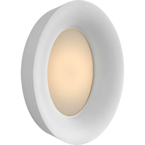 Barbara Barry Halo LED 11 inch White Wall Sconce Wall Light, Medium Oval
