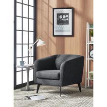 View Product - Divani Casa Bannack Modern Dark Grey Fabric Lounge Chair