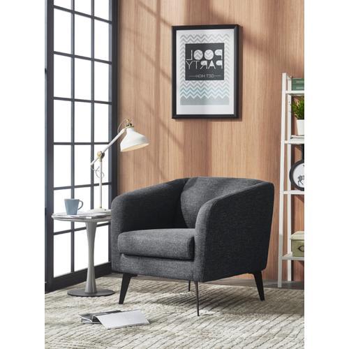 VIG Furniture - Divani Casa Bannack Modern Dark Grey Fabric Lounge Chair