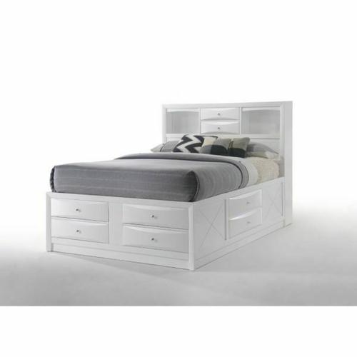 ACME Ireland Full Bed w/Storage - 21710F - White