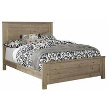 6/6 King Panel Bed - Natural Finish