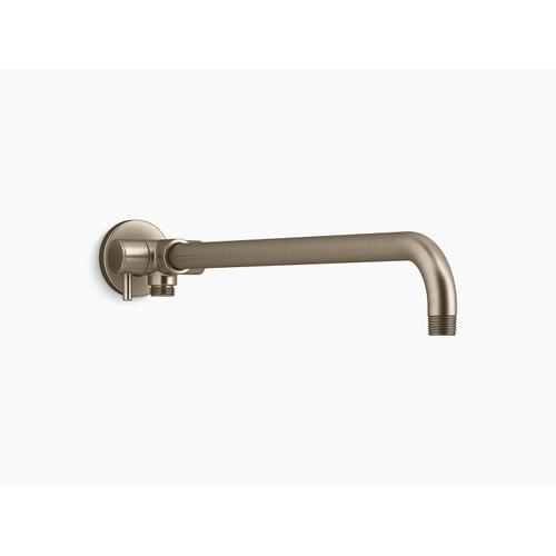 Vibrant Brushed Bronze Wall-mount Rainhead Arm With 3-way Diverter