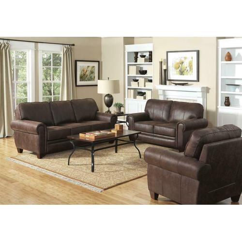 Gallery - Allingham Traditional Brown Three-piece Living Room Set