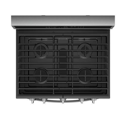 Whirlpool - 5.8 cu. ft. Smart Freestanding Gas Range with EZ-2-Lift™ Grates