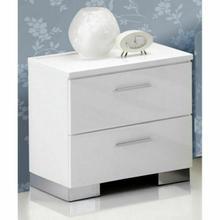 ACME Lorimar Nightstand - 22633 - White & Chrome Leg