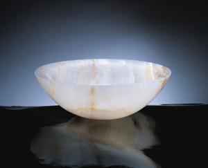 Polished Beveled Rim Sink White Onyx Product Image