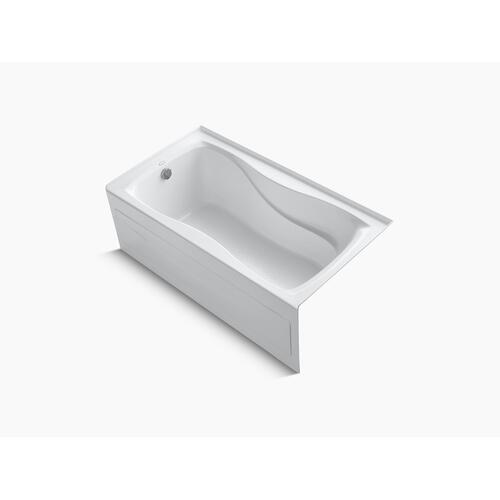 "White 60"" X 32"" Alcove Bath With Integral Apron and Integral Flange and Left-hand Drain"