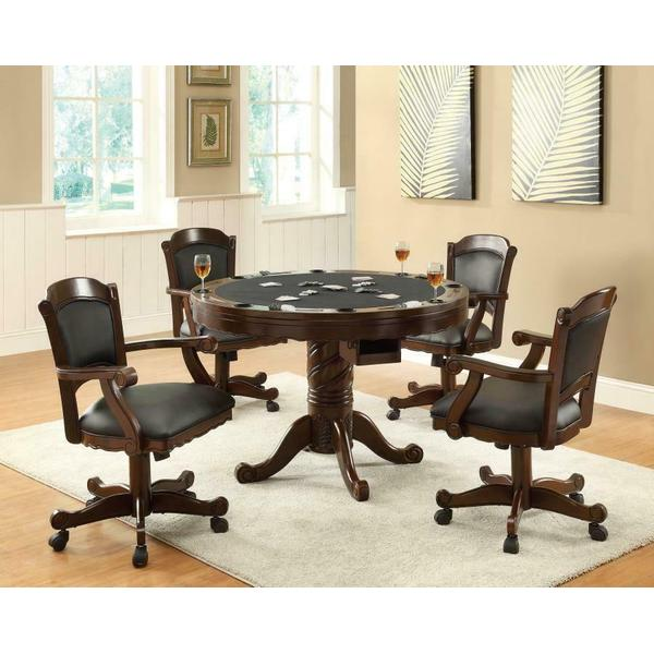 See Details - Turk Casual Game Table and Arm Chair Set