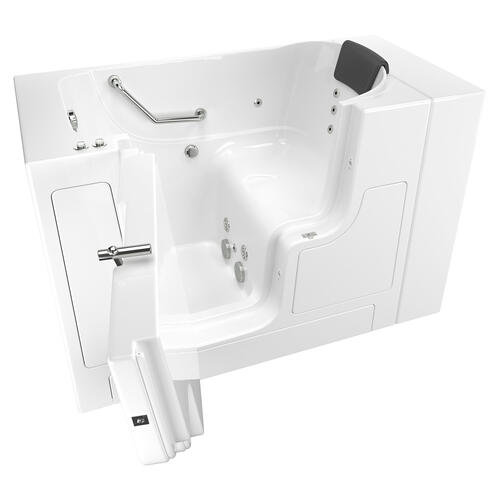 American Standard - Gelcoat Premium Series 30x52 Walk-in Tub with Whirlpool Massage and Outswing Door, Left Drain  American Standard - White