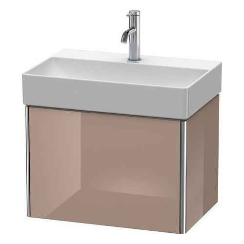 Vanity Unit Wall-mounted Compact, Cappuccino High Gloss (lacquer)
