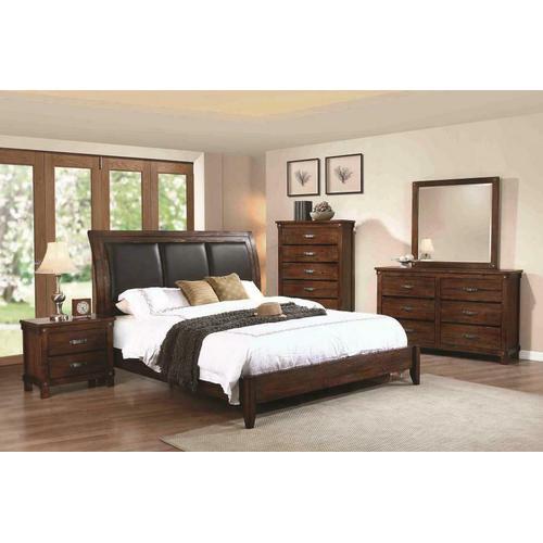 Noble Rustic Oak Queen Panel Bed
